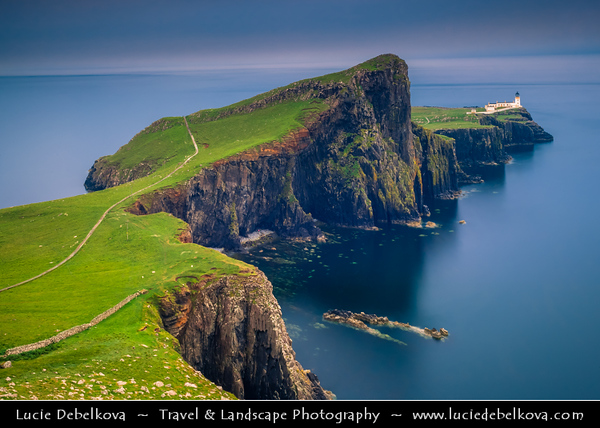 UK - Scotland - Inner Hebrides - Isle of Skye - Neist Point Lighthouse - Most westerly point on Skye - Spectacular headland - Great place for bird and whale-watchers