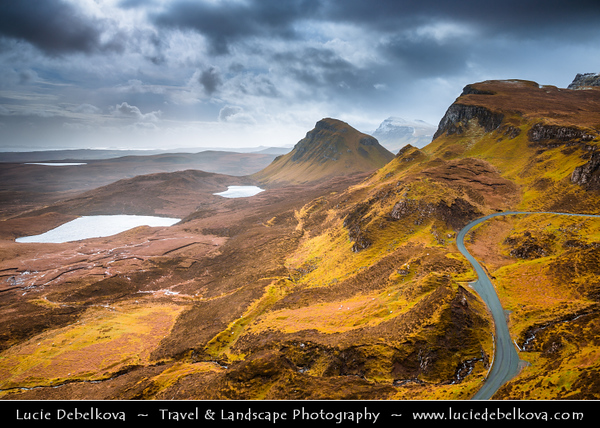 Europe - UK - United Kingdom - Scotland - Inner Hebrides - Isle of Skye - Quiraing - Landslip on the eastern face of Meall na Suiramach, the northernmost summit of the Trotternish Ridge - Some of the most stunning landscape areas in the world