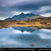 UK - Scotland - Inner Hebrides - Isle of Skye - Glen Sligachan - Sligeachan - Skye crossroad with great views over Cuillin mountains