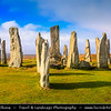 Europe - UK - Scotland - Western Isles of Scotland - Outer Hebrides - Isle of Lewis - Callanais (Callanish) Stone Circle - One of more remote megalithic stone circles in the British Isles called the Stonehenge of the north