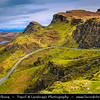 UK - Scotland - Inner Hebrides - Isle of Skye - Quiraing - Landslip on the eastern face of Meall na Suiramach, the northernmost summit of the Trotternish Ridge