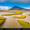 Europe - UK - Scotland - Western Isles of Scotland - Outer Hebrides - Isle Harris - Isolated Rodel Saltmarsh - Amazing salt flats over looked by the mountain Ceapabhal