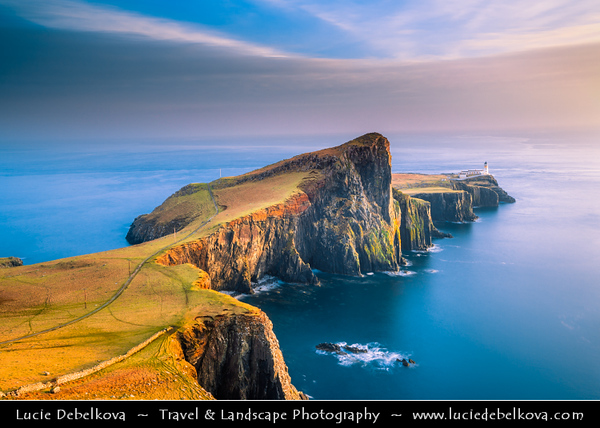 Europe - UK - Scotland - Inner Hebrides - Isle of Skye - Neist Point Lighthouse - Most westerly point on Skye - Spectacular headland - Great place for bird and whale-watchers