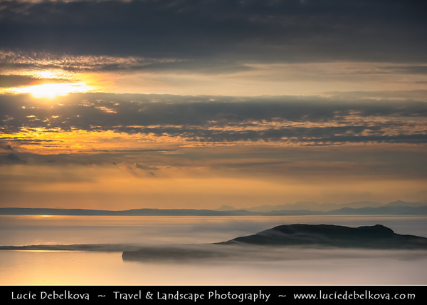 UK - Scotland - Inner Hebrides - Isle of Skye - View over the Rugged and Rocky Coast from Flodigarry