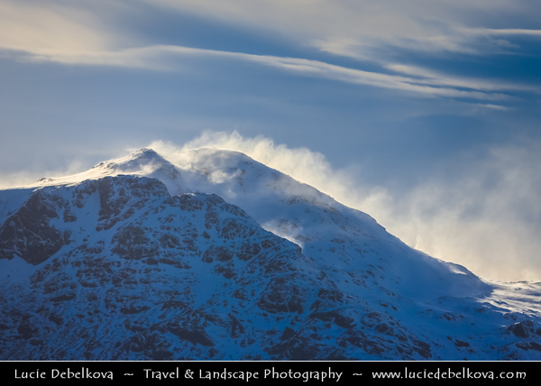 Europe - UK - United Kingdom - Scotland - Loch Lomond & Trossachs National Park - Mountains winter scene under heavy snow cover