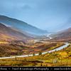 Europe - UK - United Kingdom - Scotland - Western Scottish Highlands - Western Ross - Glen Docherty - Gleann Dochartaich - Mountain valley between Loch Maree and Kinlochewe to west and Loch a'Chroisg and Achnasheen to east