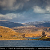 UK - Scotland - Highlands - Sutherland - Northern areas - Moine Thrust Belt - Stormy & snowy weather at classic and rugged landscape around Ardvreck Castle
