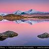 Europe - UK - United Kingdom - Scotland - Scottish Highlands - Rannoch Moor - Mòinteach Raineach/Raithneach - Large expanse of around 50 square miles (130 km²) of boggy moorland to the west of Loch Rannoch - Snow covered mountain peaks
