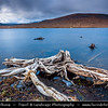 UK - Scotland - Highlands - Ross and Cromarty - Wester Ross - Rugged landscape around Loch Droma under dark and stormy weather