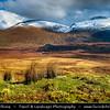 UK - Scotland - Highlands - Sutherland - Northern areas - Moine Thrust Belt - Foinaven - Classic glacier glen - valley at Stormy & Snow weather