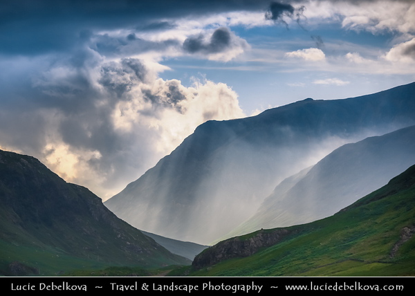 UK - Scotland - Western Highlands - Glen Etive - Gleann Eite - Rugged and dramatic landscape under dreamy light