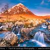 Europe - UK - United Kingdom - Scotland - Western Highlands - Buachaille Etive Mòr - Pyramid mountain at the head of Glen Etive and Glencoe
