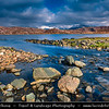 UK - Scotland - Highlands - Sutherland - Northern areas - Moine Thrust Belt - Stormy & snowy weather at classic and rugged landscape