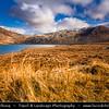 UK - Scotland - Highlands - Sutherland - Northern areas - Moine Thrust Belt - Foinaven - Classic glacier glen - valley at Stormy weather