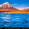 Europe - UK - United Kingdom - Scotland - Western Highlands - Buachaille Etive Mòr - Pyramid mountain at the head of Glen Etive and Glencoe - Snow covered peak