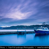 Europe - UK - United Kingdom - Scotland - Loch Lomond & Trossachs National Park - Loch Lomond - Loch Laomainn - Freshwater Scottish loch lying on Highland Boundary Fault - Largest inland stretch of water in Great Britain by surface area - Inversnaid at Dusk - Twilight - Blue Hour