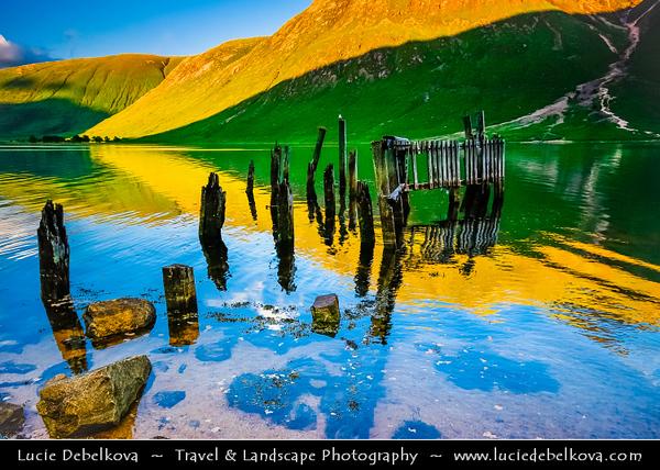 UK - Scotland - Scottish Highlands - Stunning evening ligh over rich green summer landscape of Loch Etive - Loch Eite - 30 km sea loch in Argyll and Bute