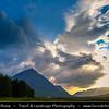 Europe - UK - United Kingdom - Scotland - Western Highlands - Buachaille Etive Mòr - Pyramid mountain at head of Glen Etive & Glencoe with surrounding rugged landscape
