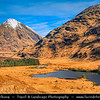 Europe - UK - United Kingdom - Scotland - Western Scottish Highlands - Glen Coe - Gleann Comhan - Considered as one of the most spectacular & beautiful places in Scotland - Part of National Scenic Area of Ben Nevis and Glen Coe