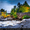 Europe - UK - United Kingdom - Scotland - Loch Lomond & Trossachs National Park - Falls Of Dochart - Waterfalls situated on River Dochart at Killin near western end of Loch Tay