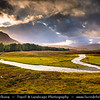 Europe - UK - United Kingdom - Scotland - Western Scottish Highlands - Area around Loch Droma- Freshwater loch in Wester Ross - Dramatic changeable weather