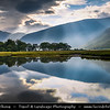 Europe - UK - United Kingdom - Scotland - Western Scottish Highlands - Glen Etive - Gleann Eite - 30 km sea loch in Argyll and Bute - Rugged and dramatic landscape under dreamy light