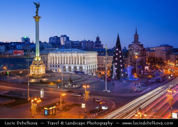 Europe - Ukraine - Kiev - Maidan Nezalezhnosti - Independence Square - Central square in Kiev & main location for parades, concerts or festivals