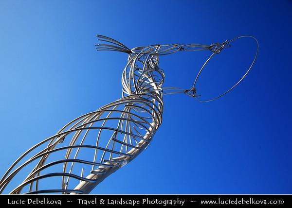 UK - Northern Ireland - Belfast - City waterfront area - Beacon of Hope Sculpture