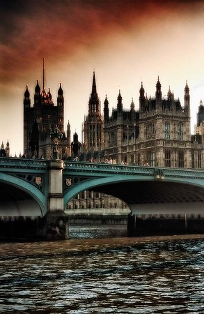 View of Parliament  from Across the Thames River #1 - London, UK