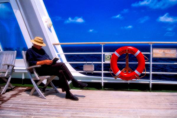On Deck on the Queen Elizabeth II - Southhampton, UK