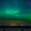 UK - Scotland - Caithness - John O' Groats - The most northerly settlement of mainland Great Britain - Aurora borealis - Northern lights