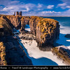 UK - Scotland - Caithness - Castle Sinclair Girnigoe - Ruined castle nearby the most northerly point on mainland Britain