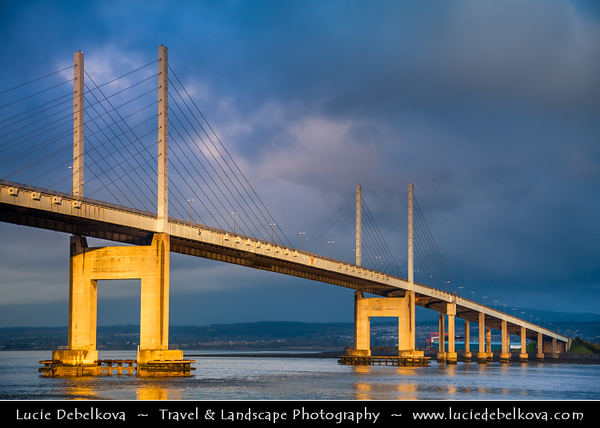 UK - Scotland - Inverness - Moray Firth Bridge - Kessock Bridge - Drochaid Cheasaig - Cable-stayed bridge across the Beauly Firth, an inlet of the Moray Firth