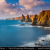 UK - Scotland - Caithness - John O' Groats - The most northerly settlement of mainland Great Britain - Duncansby Head - Spectacular sea-stacks rising up to 180ft
