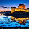 UK - Scotland - Eilean Donan Castle - Eilean Donnain - Small island in Loch Duich in the western Highlands - Picturesque castle widely familiar from many photographs & appearances in film & television - Late Evening - Dusk - Twilight - Blue Hour