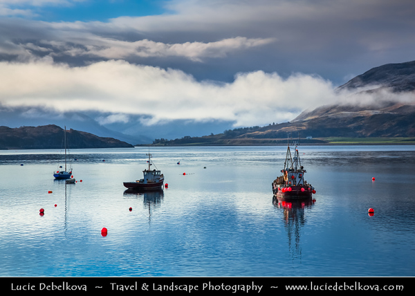 UK - Scotland - Highlands - Ross and Cromarty - Ullapool - Fishing harbour on the east shore of Loch Broom -