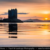 Europe - UK - Scotland - Scottish Highlands - Castle Stalker - Caisteal an Stalcaire - Four-storey tower house picturesquely set on a tidal islet on Loch Laich, an inlet off Loch Linnhe