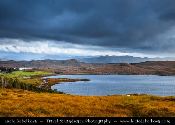 Europe - UK - United Kingdom - Scotland - Western Scottish Highlands - Western Ross - Loch Ewe - Loch Iùbh - Sea loch nestled within dramatic landscapes of Scotland's Western Highlands