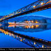 Europe - UK - United Kingdom - Scotland - Western Highlands - Loch Leven - Loch Liobhann - Ballachulish Bridge at Dusk - Twilight - Blue Hour