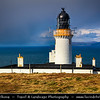 UK - Scotland - Caithness - Dunnet Head Lighthouse - The most northerly point on mainland Britain whose cliffs fall 300ft sheer into the Pentland Firth