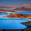 UK - Scotland - Kyle of Lochalsh - Bridge to Skye - Road bridge over Loch Alsh, connecting mainland Highland with the Isle of Skye at sunrise - morning light