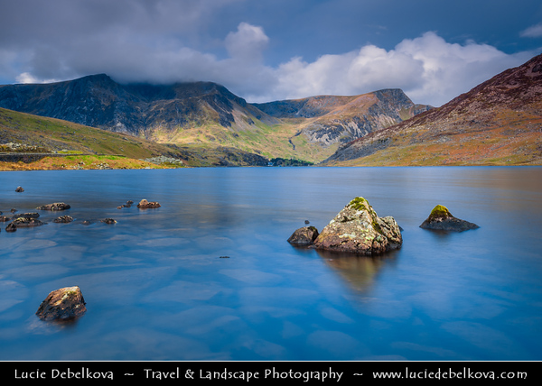 Europe - UK - United Kingdom - Wales - North Wales - Snowdonia National Park - Largest National Park in Wales with highest mountain in England & Wales & largest natural lake in Wales - Llyn Ogwen Lake