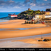 Europe - UK - Wales - South West Wales - Pembrokeshire Coast National Park - Tenby Harbour - Dinbych-y-Pysgod - Walled seaside town on shores of Atlantic Ocean on the west side of Carmarthen Bay at low tide