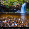 Europe - UK - Wales - South Wales - Brecon Beacons National Park - Pontneddfechan waterfalls - One of our most popular walking areas with gorges & waterfalls