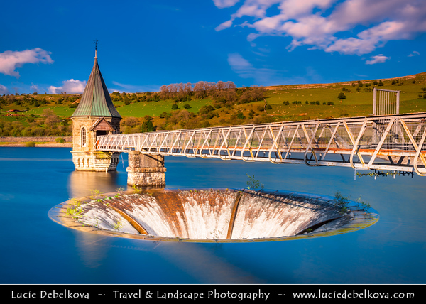 Europe - UK - Wales - South Wales - Brecon Beacons National Park - Unusual Reservoir