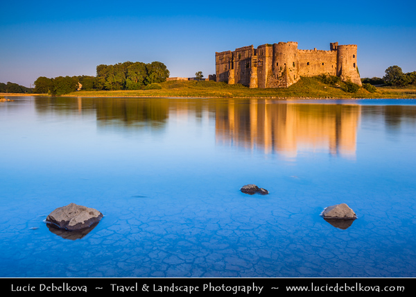Europe - UK - Wales - South West Wales - Pembrokeshire Coast National Park - Carew Castle - Situated on the banks of the Carew River is this magnificent Norman castle