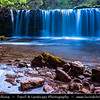 Europe - UK - Wales - South Wales - Brecon Beacons National Park - Pontneddfechan waterfalls - One of our most popular walking areas with gorges & waterfalls - Upper Ddwli waterfall - Sgwd Dwilli Uchaf