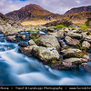 Europe - UK - United Kingdom - Wales - North Wales - Snowdonia National Park - Largest National Park in Wales with highest mountain in England & Wales & largest natural lake in Wales