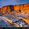 Europe - UK - United Kingdom - Wales - South Wales - Bridgend - Southerndown - Dunraven Bay - Glamorgan Heritage Coast - Spectacular mix of rugged & unusual cliffs, rock formations & golden sandy beaches - Sunset