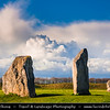 Europe - UK - United Kingdom - England - Wiltshire - Avebury Megalithic Stone Circle - UNESCO World Heritage Site - One of most famous prehistoric monument - Ancient circle of megalithic stones